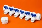 ППРС Коллектор 40-20х6 синий кран - Производство и продажа полипропиленовых труб «МегаТерм»
