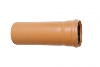 Труба канализационная 160 х4,0/L= 500, наружная, рыжая - Производство и продажа полипропиленовых труб «МегаТерм»