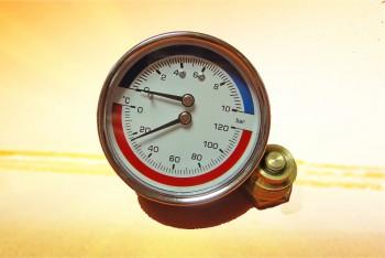 """Термоманометр  Аксиальный 1/2"""", 16 бар, 120*С - Производство и продажа полипропиленовых труб «МегаТерм»"""