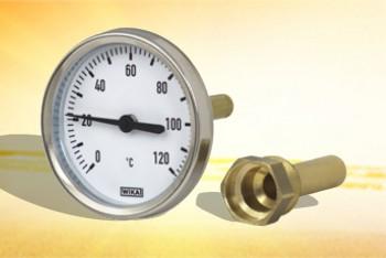Термометр Биметалл  63мм, 100 *С, L= 40мм Осевой с Гильзой - Производство и продажа полипропиленовых труб «МегаТерм»
