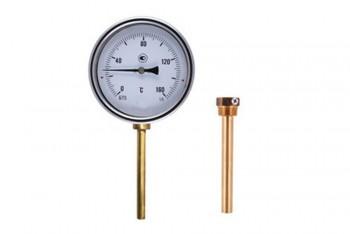 Термометр Биметалл 100мм, 150 *С, L=100мм Радиал. с Гильзой - Производство и продажа полипропиленовых труб «МегаТерм»
