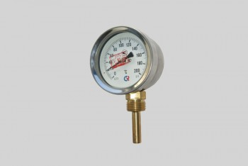 Термометр Биметалл 100мм, 200 *С, L=100мм Радиал. с Гильзой - Производство и продажа полипропиленовых труб «МегаТерм»