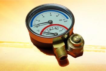 """Термоманометр  Радиальный 1/2"""",  4 бар, 120*С - Производство и продажа полипропиленовых труб «МегаТерм»"""