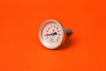 Термометр Биметалл 100мм, 200 *С, L= 50мм Осевой с Гильзой - Производство и продажа полипропиленовых труб «МегаТерм»