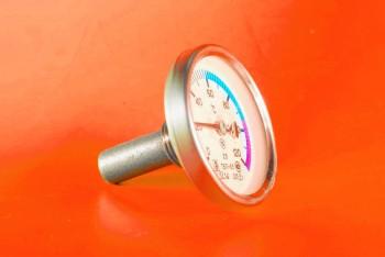 Термометр Биметалл 100мм, 120 *С, L= 40мм Осевой с Гильзой - Производство и продажа полипропиленовых труб «МегаТерм»