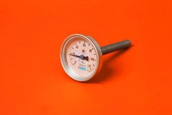 Термометр Биметалл 100мм, 120 *С, L=100мм Осевой с Гильзой - Производство и продажа полипропиленовых труб «МегаТерм»