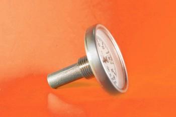 Термометр Биметалл 100мм, 160 *С, L= 40мм Осевой с Гильзой - Производство и продажа полипропиленовых труб «МегаТерм»