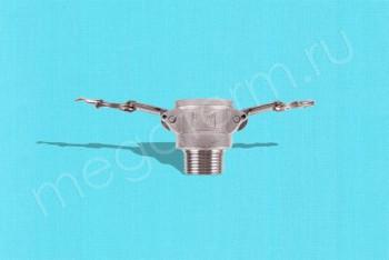 """B-100 Камлок Мама  25мм - Нар. Резьба 1"""". Алюминий - Производство и продажа полипропиленовых труб «МегаТерм»"""