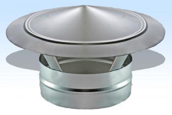 Зонт Круглого Воздуховода Крышный D 100, Оцинкованная Сталь 0,5 мм - Производство и продажа полипропиленовых труб «МегаТерм»