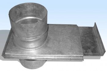 Шибер Круглого Воздуховода D 100, Оцинкованная Сталь 0,5 мм - Производство и продажа полипропиленовых труб «МегаТерм»