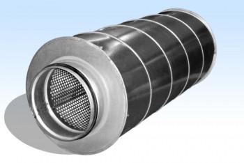 Шумоглушитель Круг. Воздуховода d=100, D=200, L=600, Оцинк. Сталь - Производство и продажа полипропиленовых труб «МегаТерм»