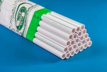 ППРС Труба Арм. Стекловолокно D 25 х 3,4 FG PN20 4м (Энергия) - Производство и продажа полипропиленовых труб «МегаТерм»