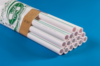 ППРС Труба Арм. Стекловолокно D 32 х 4,3 FG PN20 4м (Энергия) - Производство и продажа полипропиленовых труб «МегаТерм»