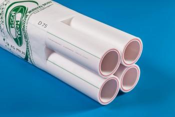 ППРС Труба Арм. Стекловолокно D 75 FG PN20 4м (Энергия) - Производство и продажа полипропиленовых труб «МегаТерм»