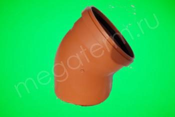 Канализация Отвод 315 х 45*, Наружный рыжий - Производство и продажа полипропиленовых труб «МегаТерм»