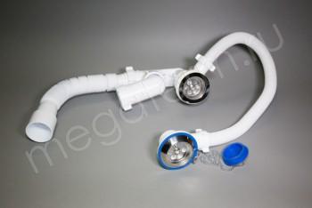 А80089 Орио Сифон д/ванны регулир. с переливом гиб. труб. - Производство и продажа полипропиленовых труб «МегаТерм»