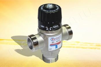 """V07 Термосмесительный Клапан  с обр. клапаном 1"""" ППП, 20-43С Кv2,5 (Barberi) - Производство и продажа полипропиленовых труб «МегаТерм»"""