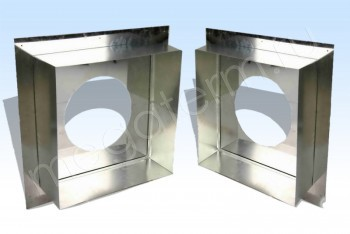 Узел Прох.Стен.Телескоп. d350+7, А=550, L=200-350 Нж.С.(Огнерус) - Производство и продажа полипропиленовых труб «МегаТерм»