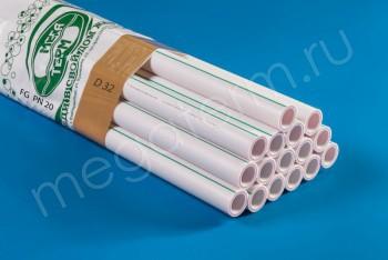 ППРС Труба Арм. Стекловолокно D 32 FG PN20 (4м) - Производство и продажа полипропиленовых труб «МегаТерм»