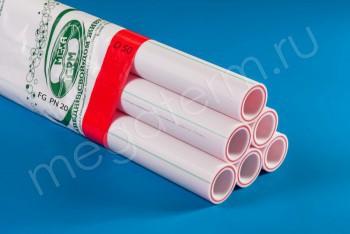 ППРС Труба Арм. Стекловолокно D 50 FG PN20 (4м) - Производство и продажа полипропиленовых труб «МегаТерм»