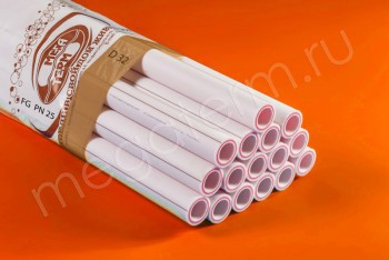 ППРС. Труба. PN25. FG (4м). D 32 х 5,4 армир. стекловолокном - Производство и продажа полипропиленовых труб «МегаТерм»