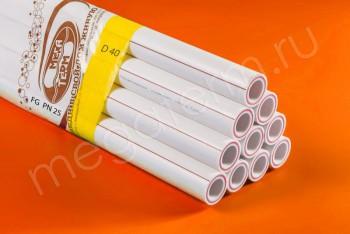 ППРС. Труба. PN25. FG (3м). D 40 армир. стекловолокном - Производство и продажа полипропиленовых труб «МегаТерм»