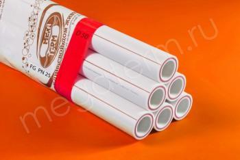 ППРС. Труба. PN25. FG (4м). D 50 х 8,4 армир. стекловолокном - Производство и продажа полипропиленовых труб «МегаТерм»