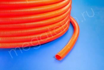 Гофра-кожух D32/27,5 mm красный для трубы 26 - Производство и продажа полипропиленовых труб «МегаТерм»