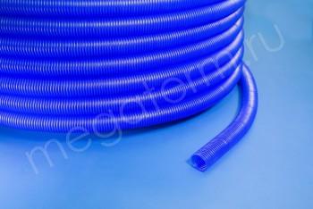 Гофра-кожух D28/23 mm синий для трубы 20 - Производство и продажа полипропиленовых труб «МегаТерм»