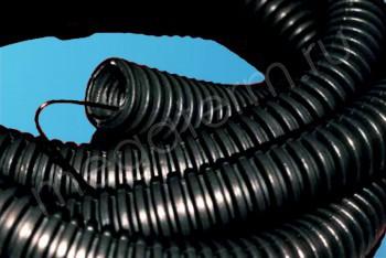 Гофра-кожух D25/20,5 mm черный для трубы 16 - Производство и продажа полипропиленовых труб «МегаТерм»