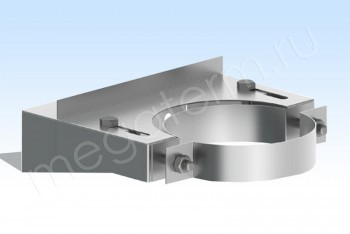 Крепление Стен.Усил. d100 А100 В=170, Н=80, Оц. 1,5 (Огнерус) - Производство и продажа полипропиленовых труб «МегаТерм»