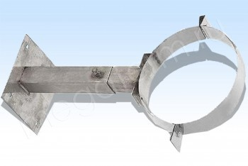 Кронштейн Стен. Телеск. d250, L=300-500, Нж. Ст. 1,5 (Огнерус) - Производство и продажа полипропиленовых труб «МегаТерм»