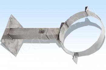 Кронштейн Стен. Телеск. d410, L=500-900, Оц. Ст. 1,5 (Огнерус) - Производство и продажа полипропиленовых труб «МегаТерм»