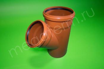 Канализация Тройник 200 -160 х 45*, Наружный рыжий - Производство и продажа полипропиленовых труб «МегаТерм»
