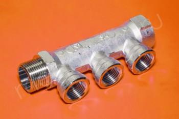 """Коллектор  3/4""""х1/2""""х 3 вых. Внут. Р - Производство и продажа полипропиленовых труб «МегаТерм»"""