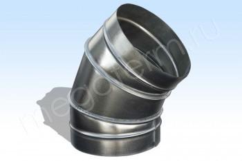 Отвод D 125х45*, Круг. Воздуховод. Оцинкованная Сталь 0,5 мм - Производство и продажа полипропиленовых труб «МегаТерм»