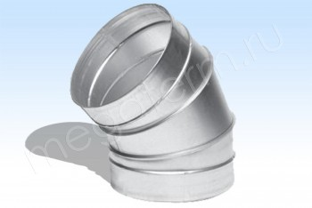 Отвод D 315х60*, Круг. Воздуховод. Оцинкованная Сталь 0,5 мм - Производство и продажа полипропиленовых труб «МегаТерм»