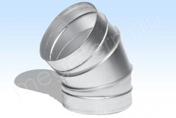 Отвод D 160х60*, Круг. Воздуховод. Оцинкованная Сталь 0,5 мм - Производство и продажа полипропиленовых труб «МегаТерм»