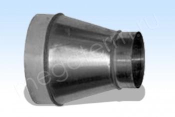 Переход Круглый Центральный D400 / D315, Оцинкованная Сталь 0,5 мм - Производство и продажа полипропиленовых труб «МегаТерм»