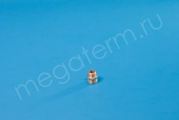 """Латунь. Ниппель Ду 15-10 (НР.G 1/2""""-3/8"""") - Производство и продажа полипропиленовых труб «МегаТерм»"""