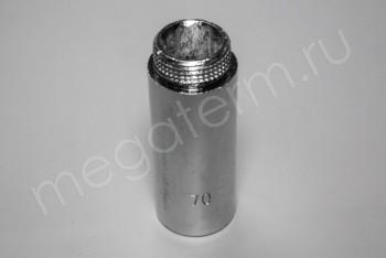 """Латунь. Удлинитель Ду 20ВнР- 20НарР (G 3/4""""F-3/4""""M), L= 70 мм - Производство и продажа полипропиленовых труб «МегаТерм»"""