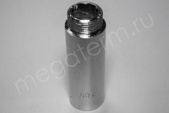 """Латунь. Удлинитель Ду 20ВнР- 20НарР (G 3/4""""F-3/4""""M), L= 80 мм - Производство и продажа полипропиленовых труб «МегаТерм»"""