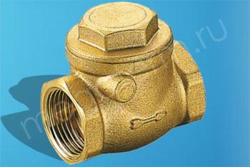 """Латунь. Клапан обратн. горизонт Ду32 (G 1.1/4"""")  IT-130 x1.1/4 - Производство и продажа полипропиленовых труб «МегаТерм»"""
