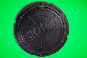 Люк  полимерный легкий малый, 30 кН (черный) - Производство и продажа полипропиленовых труб «МегаТерм»