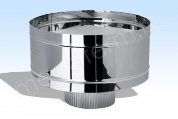 Дефлектор Моно d 150, L=245 (Бочка 300) Нж(t=1,0) (Огнерус) - Производство и продажа полипропиленовых труб «МегаТерм»