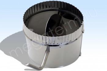 Дроссель-Клапан Моно d 130, L=280 Нж.Ст.(t=0,5) (Огнерус) - Производство и продажа полипропиленовых труб «МегаТерм»