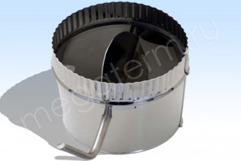 Дроссель-Клапан Моно d 100, L=250 Нж.Ст.(t=0,5) (Огнерус) - Производство и продажа полипропиленовых труб «МегаТерм»