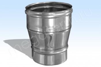 Переход Моно-Моно d 80-120, L= 250 Оцинк. Ст.(t=0.5) (Огнерус) - Производство и продажа полипропиленовых труб «МегаТерм»