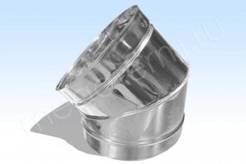 Отвод Моно 45*, d  80 Оцинков. Сталь (t=0.5) (Огнерус) - Производство и продажа полипропиленовых труб «МегаТерм»