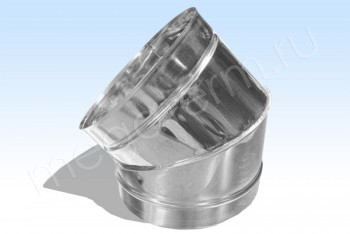 Отвод Моно 45*, d 115 Оцинков. Сталь (t=0.5) (Огнерус) - Производство и продажа полипропиленовых труб «МегаТерм»
